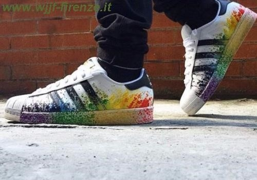 adidas superstar colorate schizzi