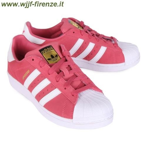 adidas superstar bianche e rosse