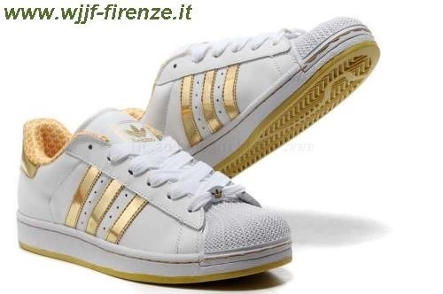 adidas superstar bianche e dorate