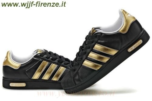 Adidas Superstar Nero Oro. '
