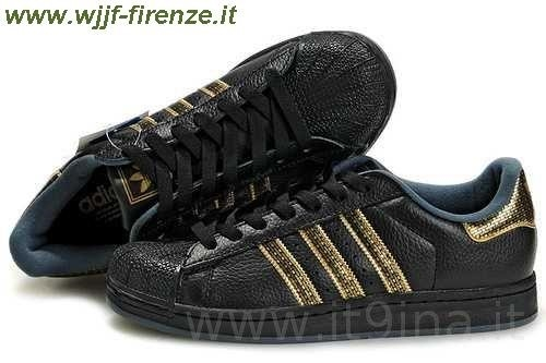 adidas superstars nere e oro