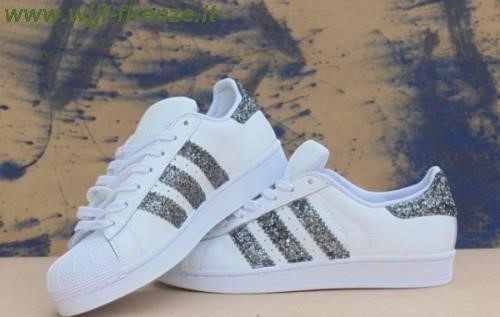 adidas grigie brillantinate