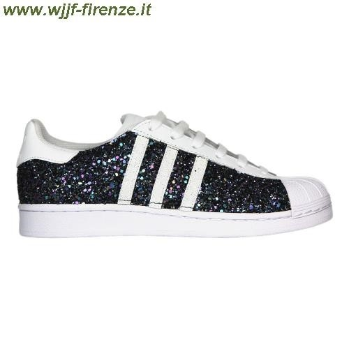 adidas superstar blu brillantini