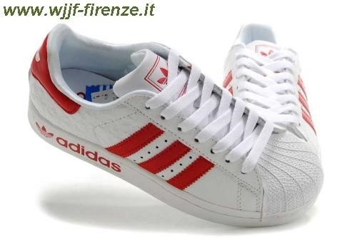 adidas bianche e rosse superstar
